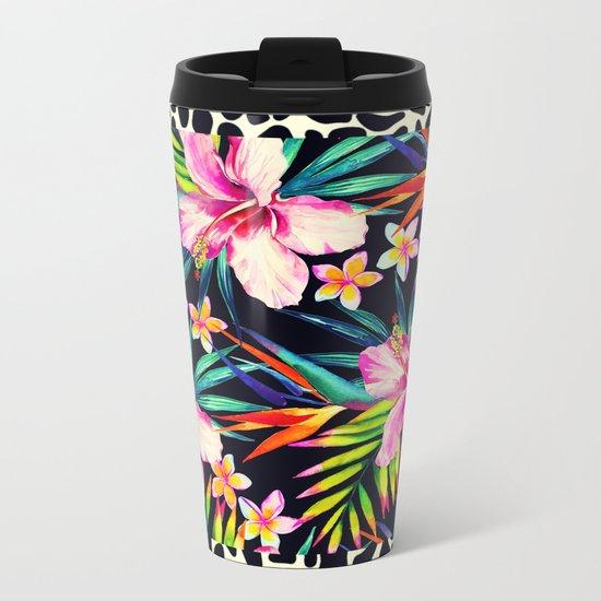 tropical wild 2 Metal Travel Mug
