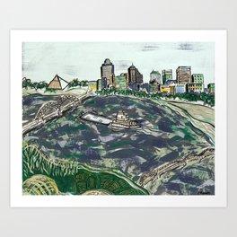 Bluff City Bliss Art Print