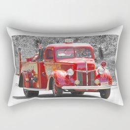 Red Fire Truck Photography Art Rectangular Pillow
