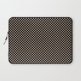 Black and Toasted Almond Polka Dots Laptop Sleeve