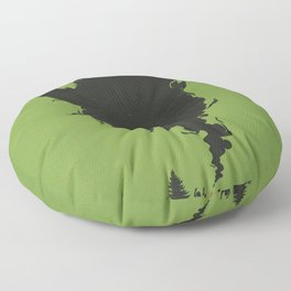 .. and There was Fire in its Eyes Floor Pillow