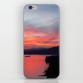 Mountains and Ocean at Sunset  iPhone Skin