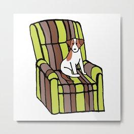 Eddie & The Ugly Chair Metal Print