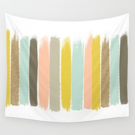 Madison - Brushstroke art print in modern colors bright and happy gifts for trendy girls Wall Tapestry