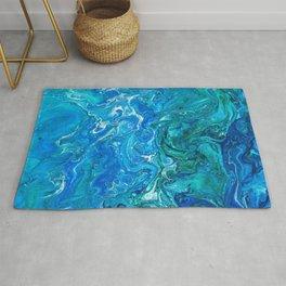 Elegant Crazy Lace Agate 2 - Blue Aqua Rug