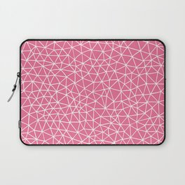 Connectivity - White on Pink Laptop Sleeve