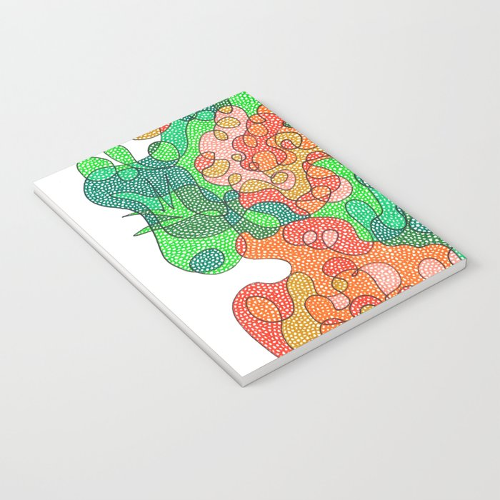 Abstract Floral #4 Notebook