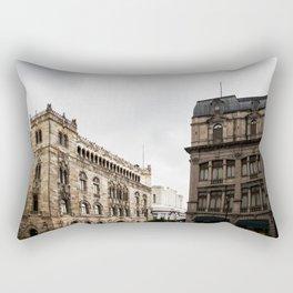 Gloomy Buildings Rectangular Pillow
