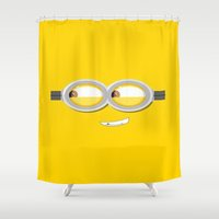 minion Shower Curtains featuring MINION by Acus