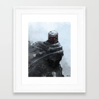 winter soldier Framed Art Prints featuring Winter soldier by Kirkrew