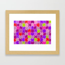 Colorful Pink and Purples Jigsaw Puzzle Framed Art Print