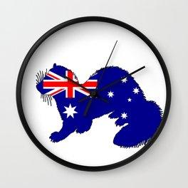 Australian Flag - Ferret Wall Clock