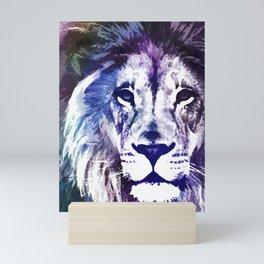 Purple Lion Mini Art Print