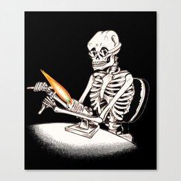 Skelly Flamerworker Canvas Print