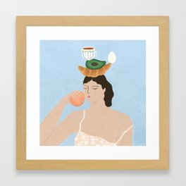 Another Breakfast Totem Framed Art Print