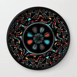Abstract on black Wall Clock
