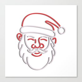 Santa Claus Neon Sign Canvas Print