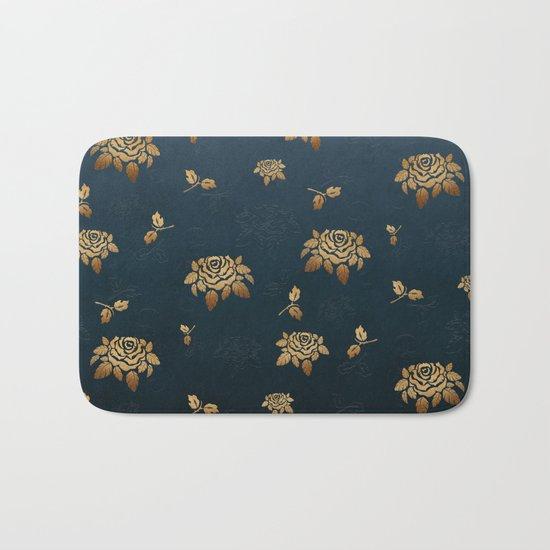 Golden Rose - Glitter Pattern Bath Mat
