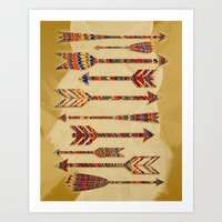 arrows Art Prints featuring arrows by Emmy Winstead