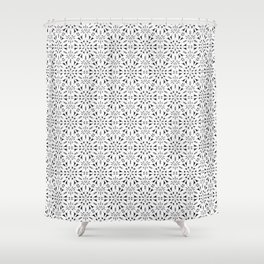 Kat Scratch • Black & White mosaic Shower Curtain