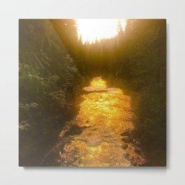 Sunset in Natural Bridge Metal Print