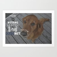 Cold, Wet Nose Art Print