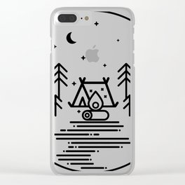 Camping in the Great Outdoors / Geometric / Nature / Camping Shirt / Outdoorsy Clear iPhone Case