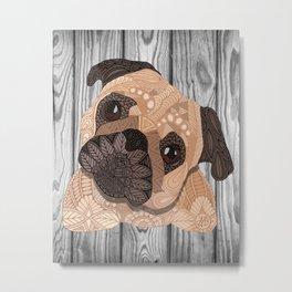 Pug Hug Metal Print