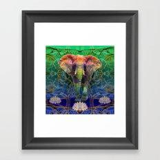 Wandering Elephant Framed Art Print