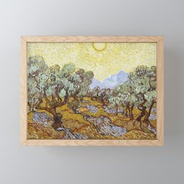 Olive Trees by Vincent van Gogh Framed Mini Art Print