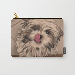Shih Tzu Tan & Brown Puppy Carry-All Pouch