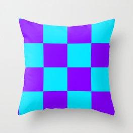 Checks and bordered checks Throw Pillow
