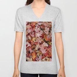 Fall Leaves Unisex V-Neck