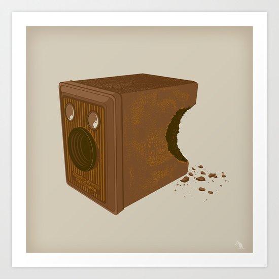 Chocolate Brownie Art Print