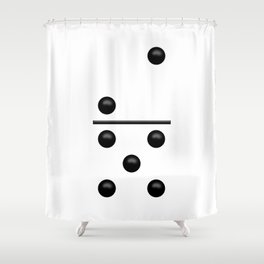 White Domino / Domino Blanco Shower Curtain