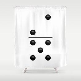 White Domino / Domino Blanco Shower Curtain