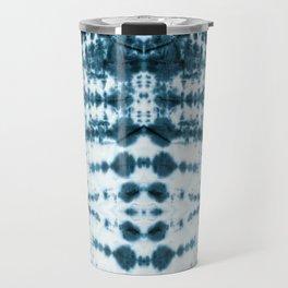 Teal Tribe Shibori Travel Mug