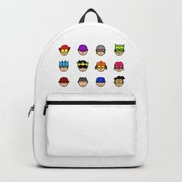 Teen Superhero Faces Backpack