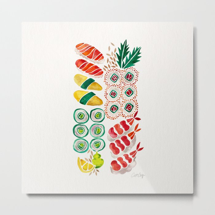Sushi Collection Metal Print