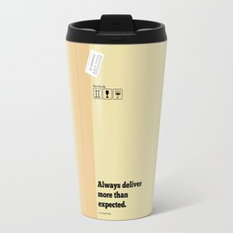 Lab No. 4 - Always Deliver More Than Expected Motivational Typography Quotes Poster Travel Mug