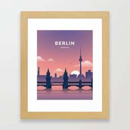 Berlin Germany Travel Print Framed Art Print