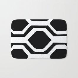Black and White Geometric Bath Mat