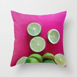 Cherry Limeade Throw Pillow