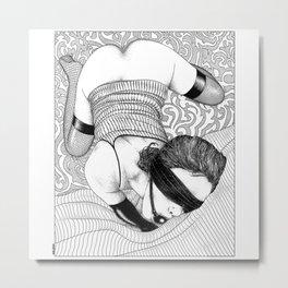 asc 816 - La femme invisible (I am here!) Metal Print