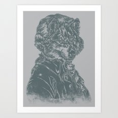 Wolf Amadeus Mozart Art Print