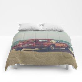 Red Supercar, classic car, triumph, spitfire, color photo, interior design, old car, auto Comforters