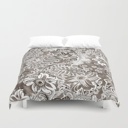 floral and paisleys monochrome Duvet Cover