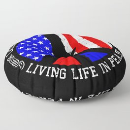 All People Imagine Living Life In Peace Gift Floor Pillow