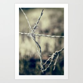 Pointy Droplets Art Print