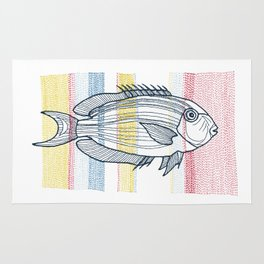 Stitches: Fish Rug